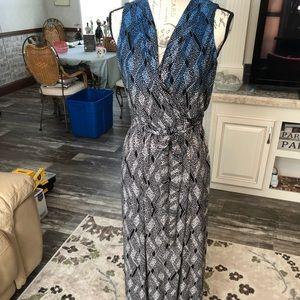 Liz Claiborne's wrap style maxi dress unlined S